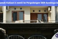Jual Rumah Kutisari 5 menit ke Pergudangan SIER Surabaya Selatan