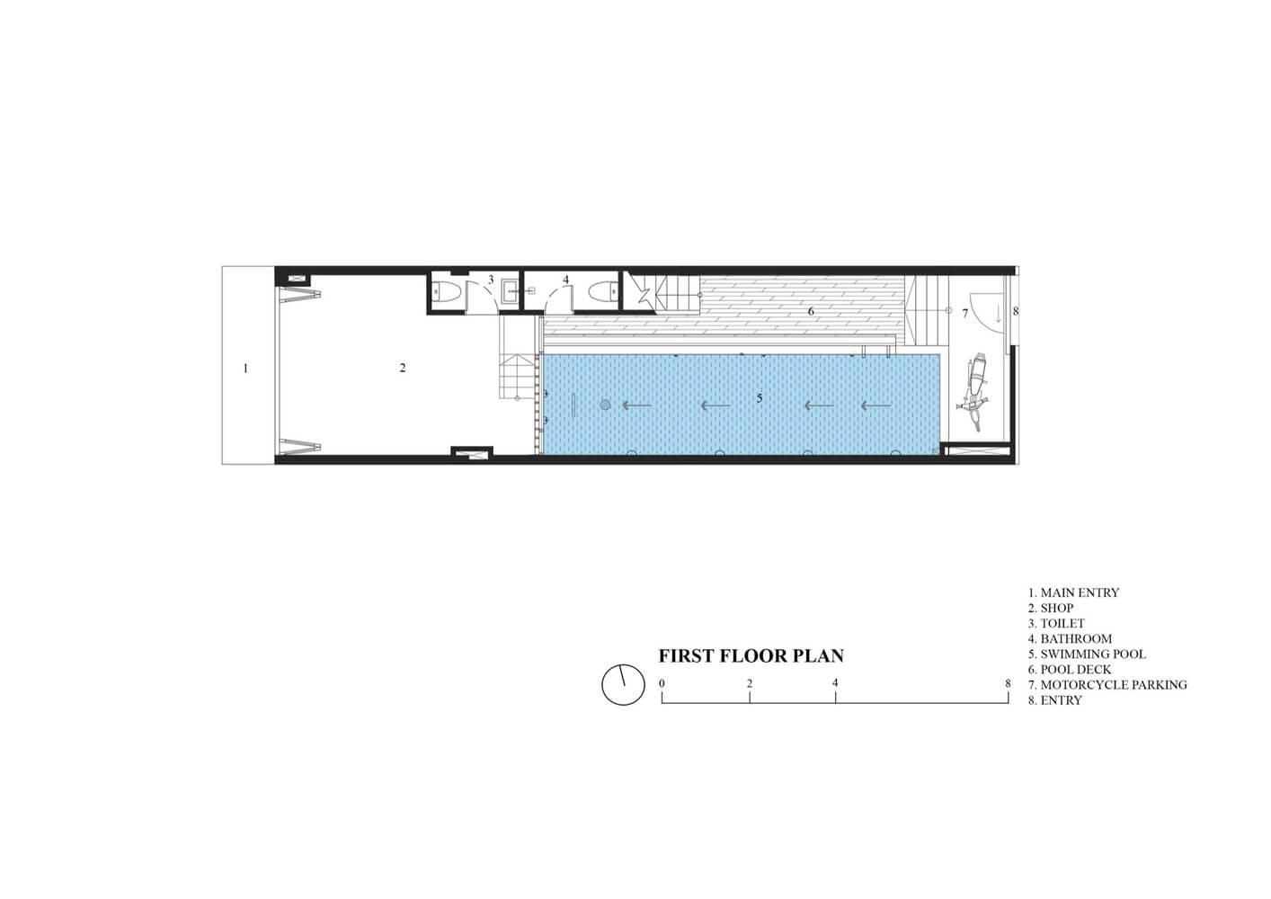 1st Floor Plan - Ruko Hijau - BeliSewaRumah