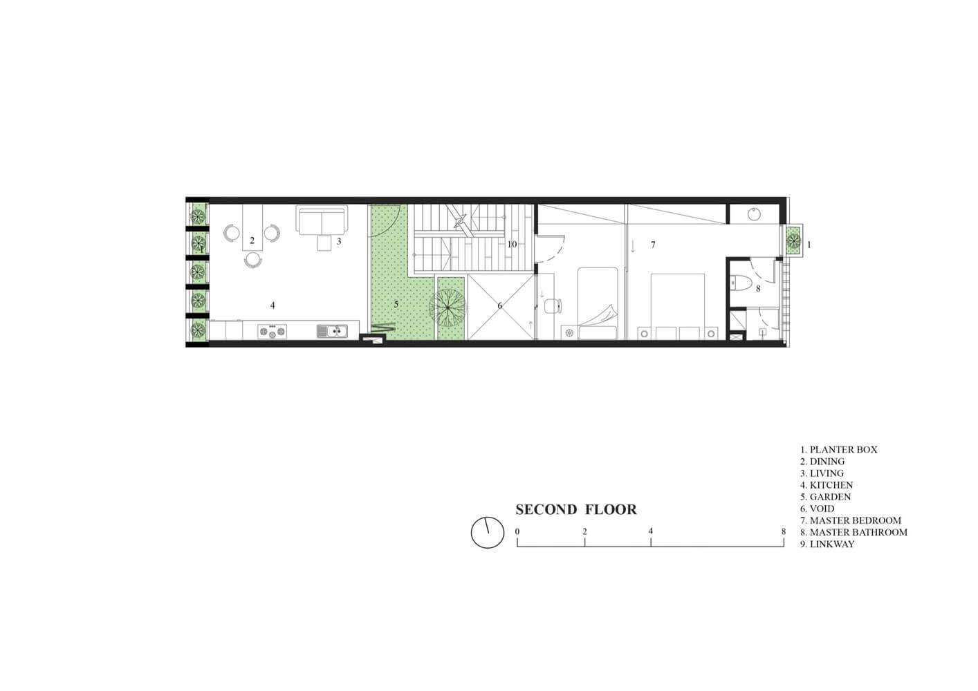 2nd Floor Plan - Ruko Hijau - BeliSewaRumah