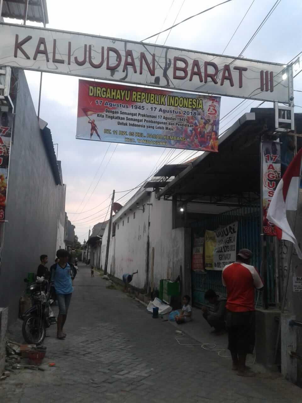Jual Murah Rumah Baru Kalijudan Barat 3 Nomor 9 Surabaya - lingkungan