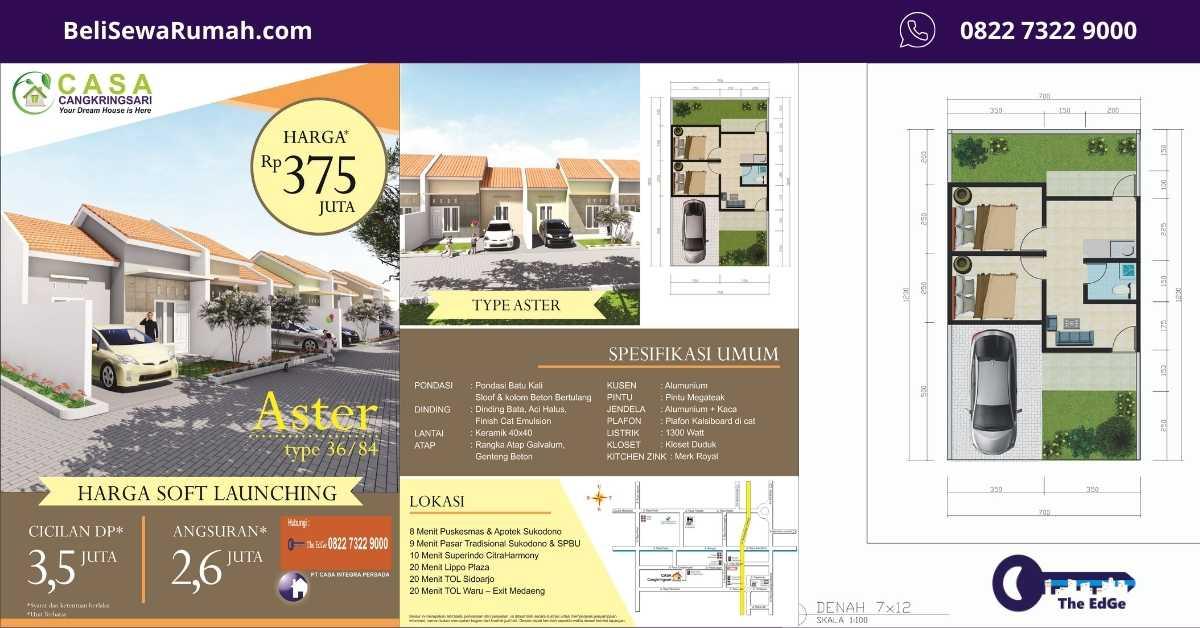 Jual Rumah Casa Cangkringsari Gresik - Primary Listing - BeliSewaRumah (2)
