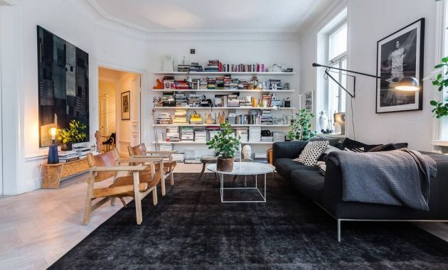 Desain ruang keluarga Skandinavian - belisewarumah