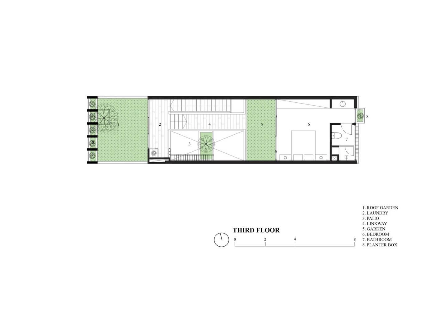 3rd Floor Plan - Ruko Hijau - BeliSewaRumah