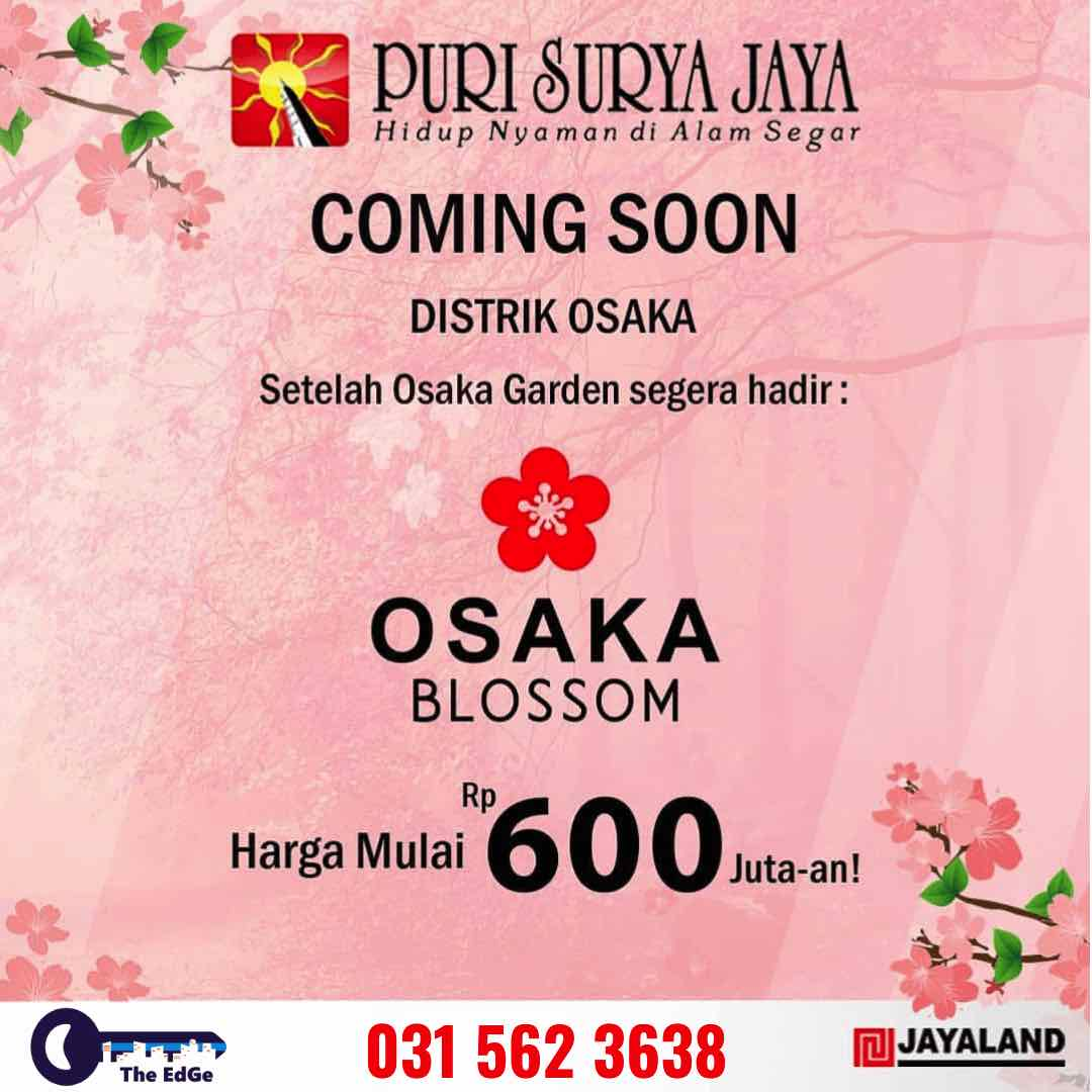 Puri Surya Jaya - Osaka Blossom - The EdGe - BeliSewaRumah