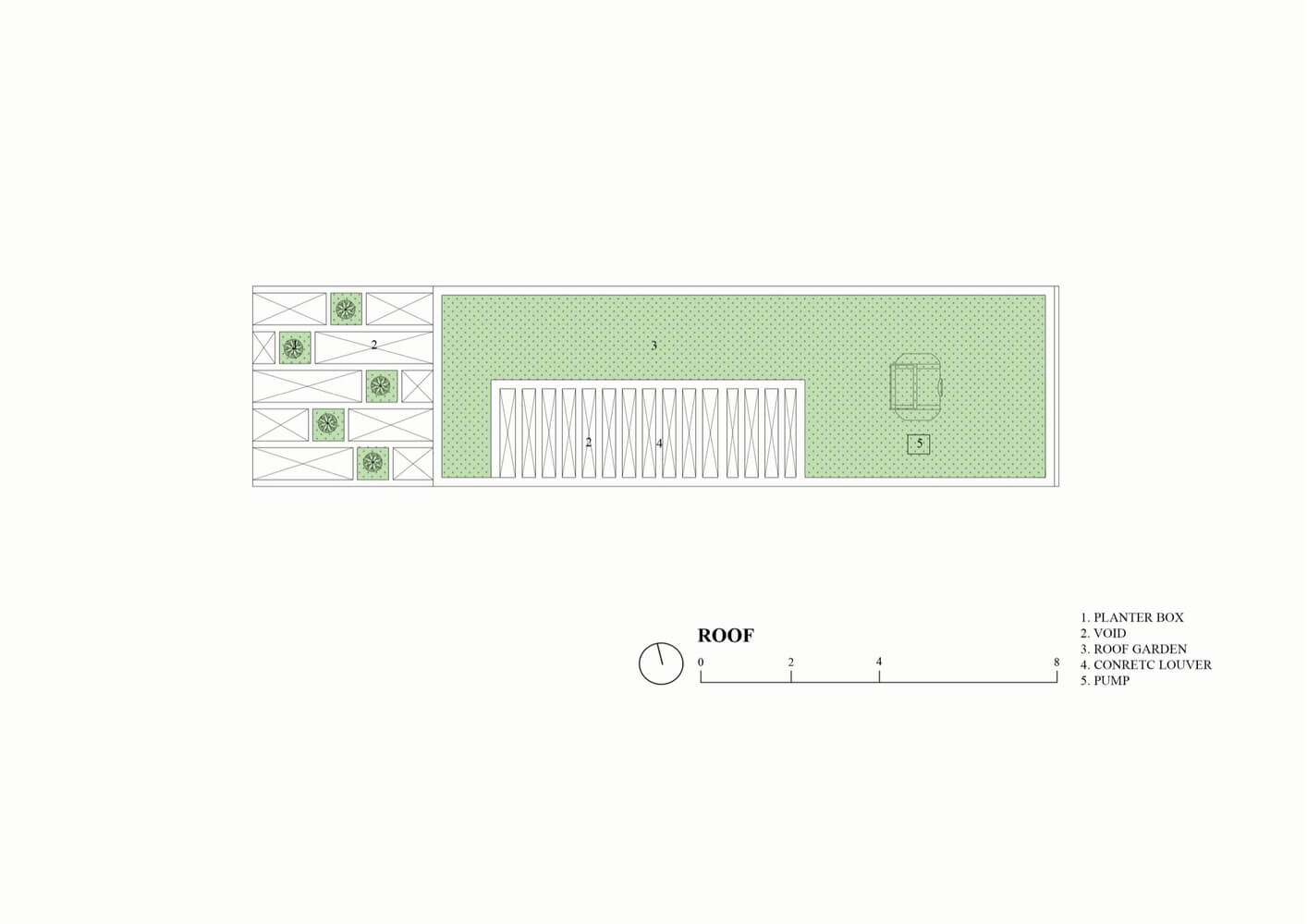 Roof Floor Plan - Ruko Hijau - BeliSewaRumah