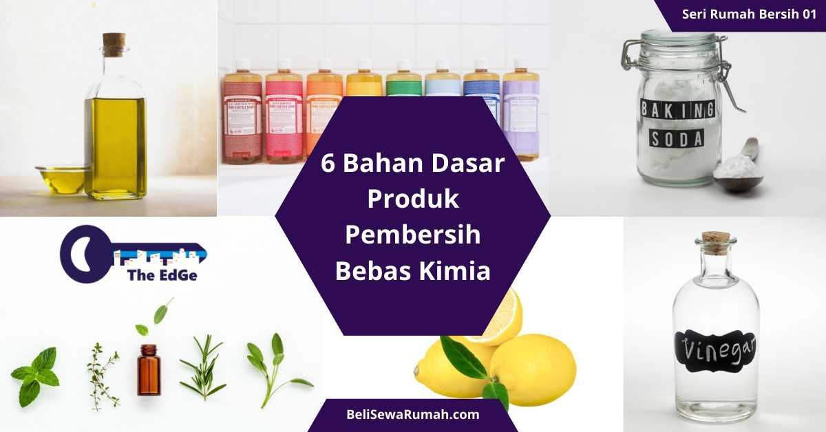 Bahan Dasar Produk Pembersih Bebas Kimia - Seri Rumah Bersih 1 - BeliSewaRumah