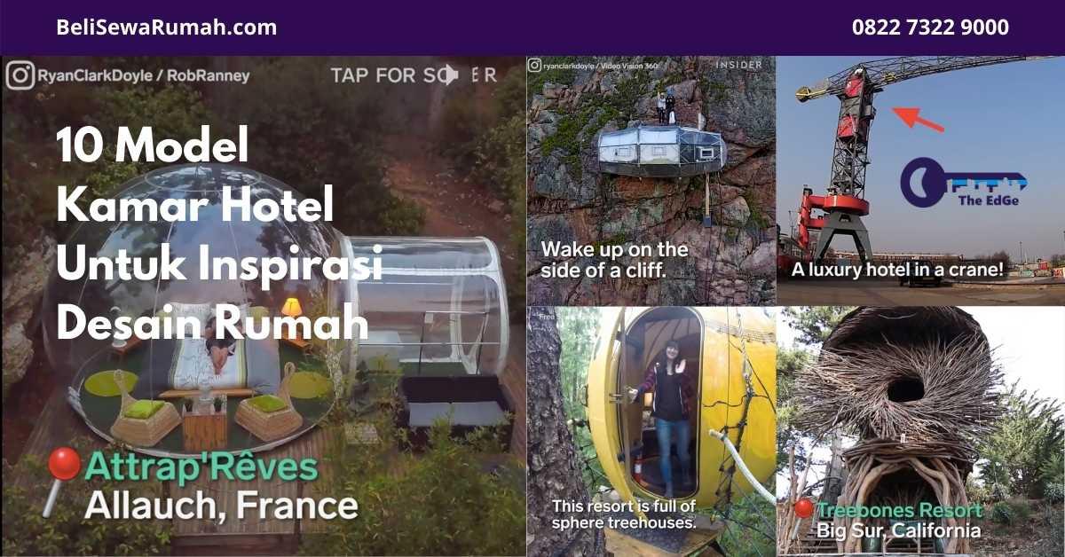 10 Model Kamar Hotel Untuk Inspirasi Desain Rumah - Listing - BeliSewaRumah - website image